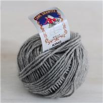Пряжа King, серый светлый 5564, кашемир, шиншилла и шёлк, 75м в 25г