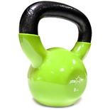 Гиря виниловая DB-401, зеленая, 8 кг