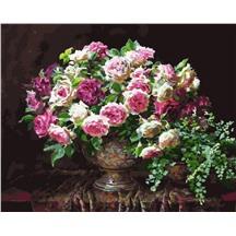 """Картина для рисования по номерам """"Античные розы"""" арт. GX 5695 m"""