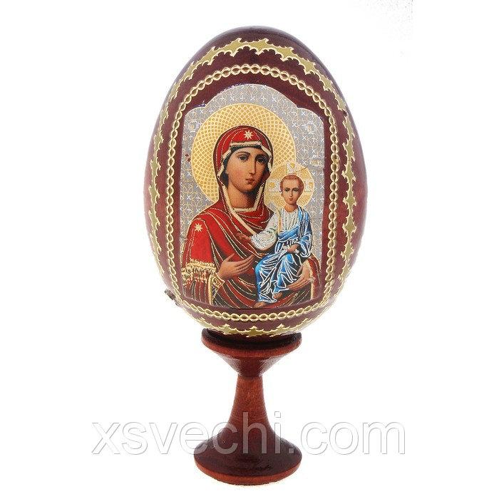 """Сувенир Яйцо на подставке икона """"Божья матерь Смоленская"""""""