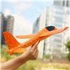 Самолет метательный планер Оранжевый 48 см.