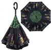 Зонт-наоборот антизонт с кнопкой Путешествие