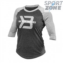 Футболка с длинным рукавом Better Bodies Womens Baseball Tee, Anthracite Melange