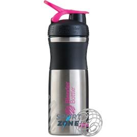 SportMixer Stainless 828мл Black/Pink [черный/малиновый] из нержавеющей стали