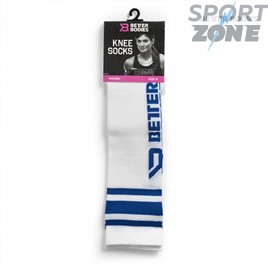 Гольфы Better Bodies Knee Socks, White/Blue