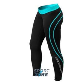 Спортивные леггинсы Better bodies Athlete tights, черный/голубые