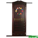 Киевница навесная с полкой для шаров (махагон, 137 х 99 х 8 см), интернет-магазин товаров для бильярда Play-billiard.ru