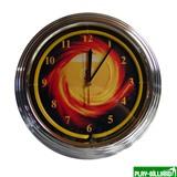 """Часы настенные """"NBU-3"""" (неон) D35см, интернет-магазин товаров для бильярда Play-billiard.ru"""