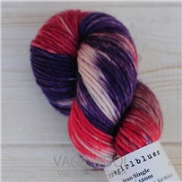 Пряжа Aran Single multicolor фиолет/губная помада/грязная роза/выцветшая роза, 120м/100г., Cowgirlblues