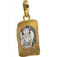 744 Образ «Архангел Михаил» серебро 925 с позолотой