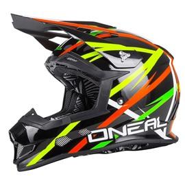 Шлем кроссовый 2Series THUNDERSTRUCK чёрный/цветной XS