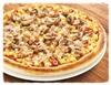 Стандартная пицца с грибами  и ветчиной