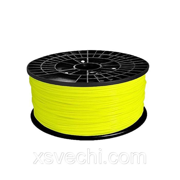 ABS-пластик, нить жёлтого цвета, диаметр 1,75 мм, 1 кг