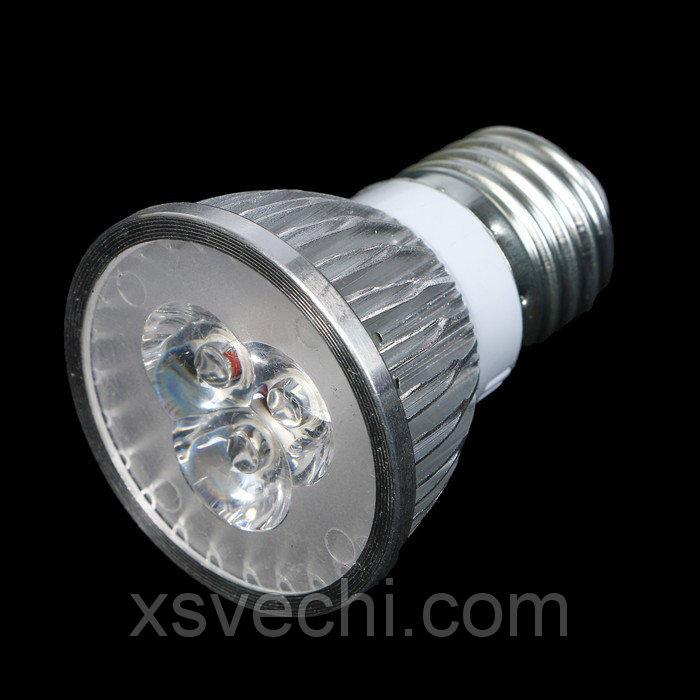 Фитолампа светодиодная HTF, E27, 3 Вт, 220 В, 8.5 х 4.7 мм