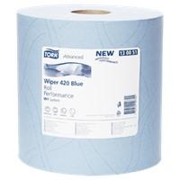 Tork Плюс протирочная бумага в рулоне голубая (W1)