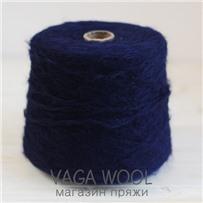 Пряжа Lilu  Синий темный  из сури альпака 130м/50гр Lama Lima