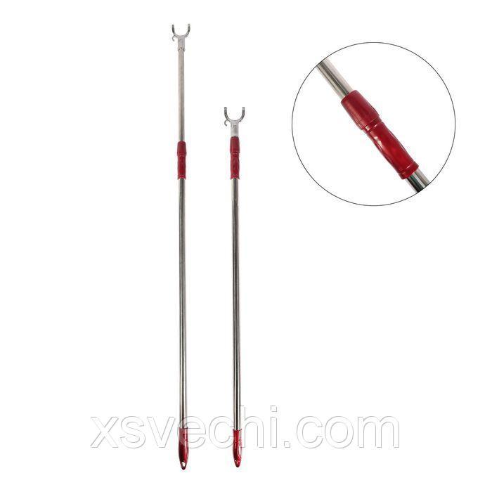 Съемник для одежды телескопический, L=93-148, вилка 6-4, металл