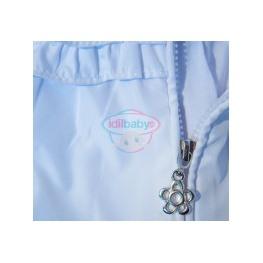 Куртка-ветровка на молнии с капюшоном для девочки.