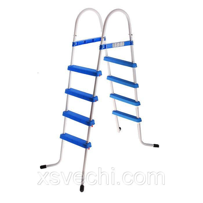 Лестница для бассейна 4-ступенчатая 122 см