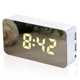 li&tai Электронные многоцветные зеркальные настольные RGB-LED часы li&tai SLT-9005 (розовые)