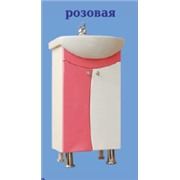 Тумба УЮТ-45 розовая с умывальником уют 45