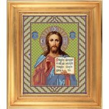 """Вышивка бисером  """"ИИСУС ВСЕДЕРЖИТЕЛЬ"""" 18х 22см арт.И013"""