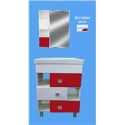 Комплект мебели Домино 60 тумба+мойка и зеркальный шкафчик