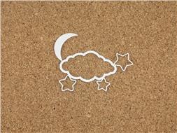 Облачко с луной и звездами