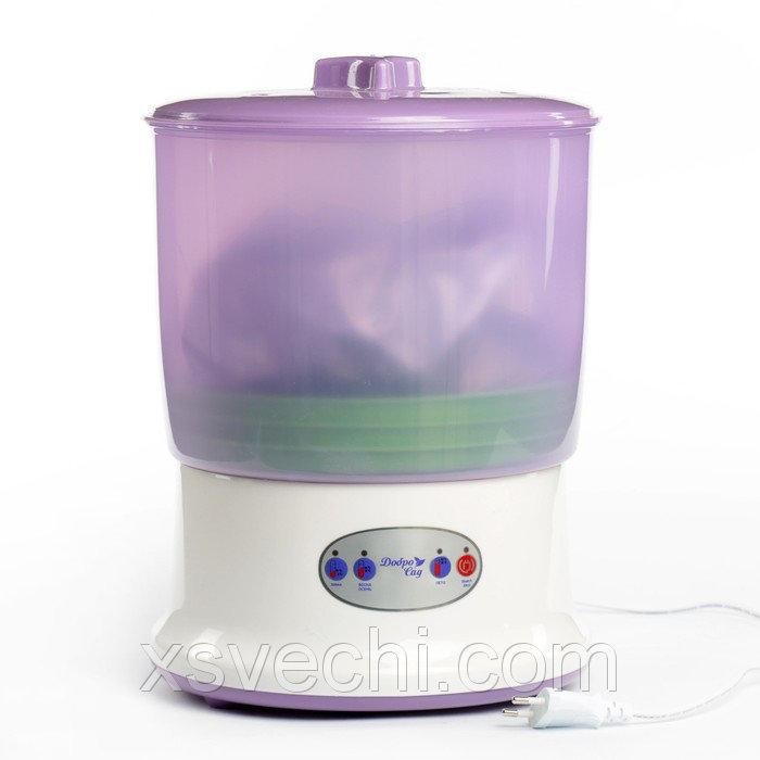 Проращиватель семян ДоброСад красота PRO DS02, доп. лоток, фиолетовый