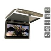 """Автомобильный потолочный монитор 15,6"""" со встроенным FULL HD медиаплеером AVIS Electronics AVS1550MPP (тёмно-серый, бежевый)"""