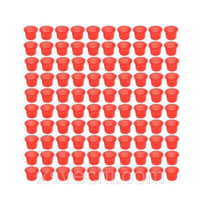 Набор колпачков для краски красных, 100 шт., 15 мм