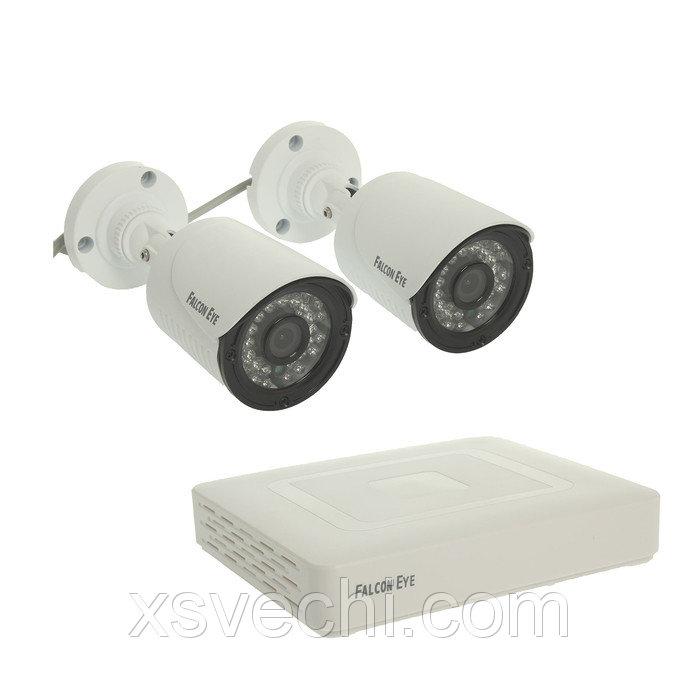 Комплект видеонаблюдения Falcon Eye FE-104MHD KIT Light, AHD, 1 Мп, 2 уличные камеры