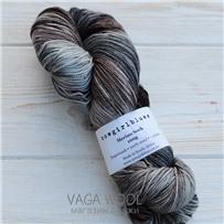 Пряжа Merino Sock multicolor уголь/какао/кофе/серебряная лиса, 320м/100г, Cowgirlblues