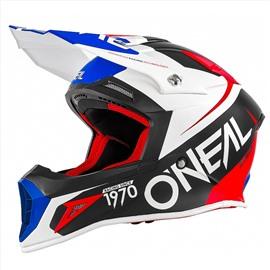 Шлем кроссовый 10 Series FLOW красно-синий XL