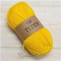 Пряжа Teddi, Желтый 12047, 110м в 50г, альпака, Перу