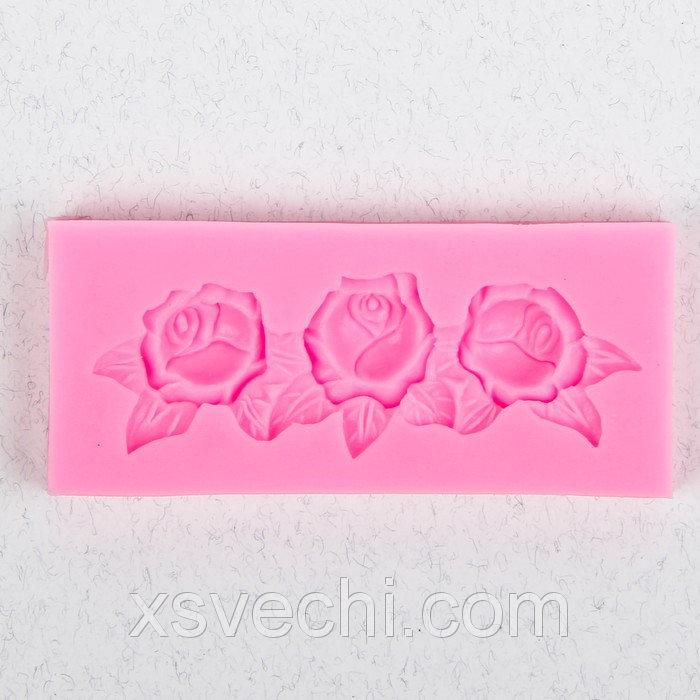 """Молд 10,2х4,4х1 см """"Три розы"""""""