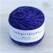 Пряжа Merino DK solid Черника, 100м/50г., Cowgirlblues, Blueberry