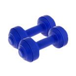 Гантели пластиковые европодвес 0,5 кг, пара, синяя