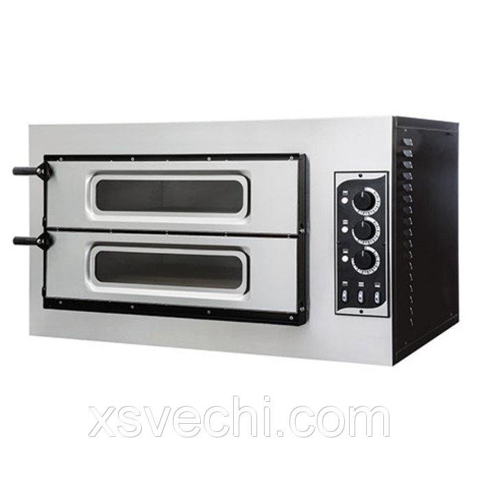 Печь для пиццы Gemlux GEP 2/50 VETRO, 50-500°С, два модуля