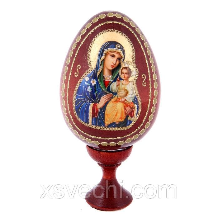 """Сувенир Яйцо на подставке икона """"Божья Матерь Неувядаемый цвет"""""""