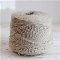 Пряжа City 008 Слоновая кость 191м/50гр., шерсть ягнёнка, шёлк, Vaga Wool