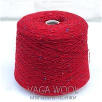 Пряжа Твид Soft Donegal Маковое поле 5567, 190м в 50 г. Knoll Yarns, Gardinal Red