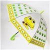Зонт детский полуавтомат прозрачный Лягушки со свистком D-84см. №97