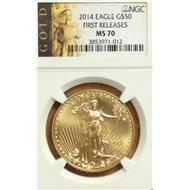 50 долларов США 2014 NGC MS70