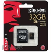 Карта памяти Kingston microSDHC 32GB Class 10 UHS-I(SDCA10/32GB)+адаптер