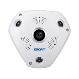 Escam Панорамная VR IP-камера ESCAM Shark QP180 (960p) fisheye на 360 градусов