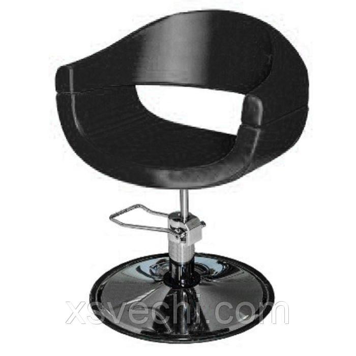 """Парикмахерское кресло """"Смайл плюс"""", гидравлический подъемник, диск, цвет чёрный"""