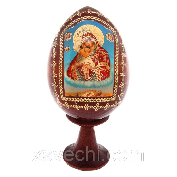 """Сувенир Яйцо на подставке икона """"Божья Матерь Почаевская"""""""