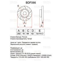 BDF066. Задняя ось. Перфорация + слоты