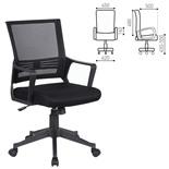 Кресло офисное Brabix Balance MG-320 сетка/ткань, черное 531831